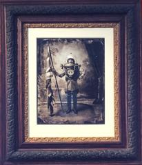 "Dr. Crighton's Apparatus: Modern, Vintage Style ""Steampunk"" Photo, Antique Frame"