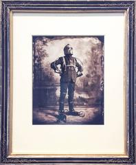 "The Perambulator: Modern, Vintage Style Sepia ""Steampunk"" Man in Antique Frame"