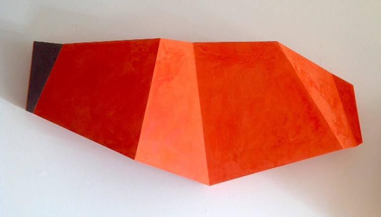 Sunsets (Minimalist Abstract Orange Wall Sculpture)