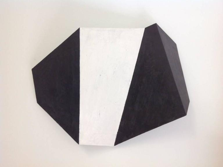 Black and White (Minimalist Abstract 3D Wall Sculpture)