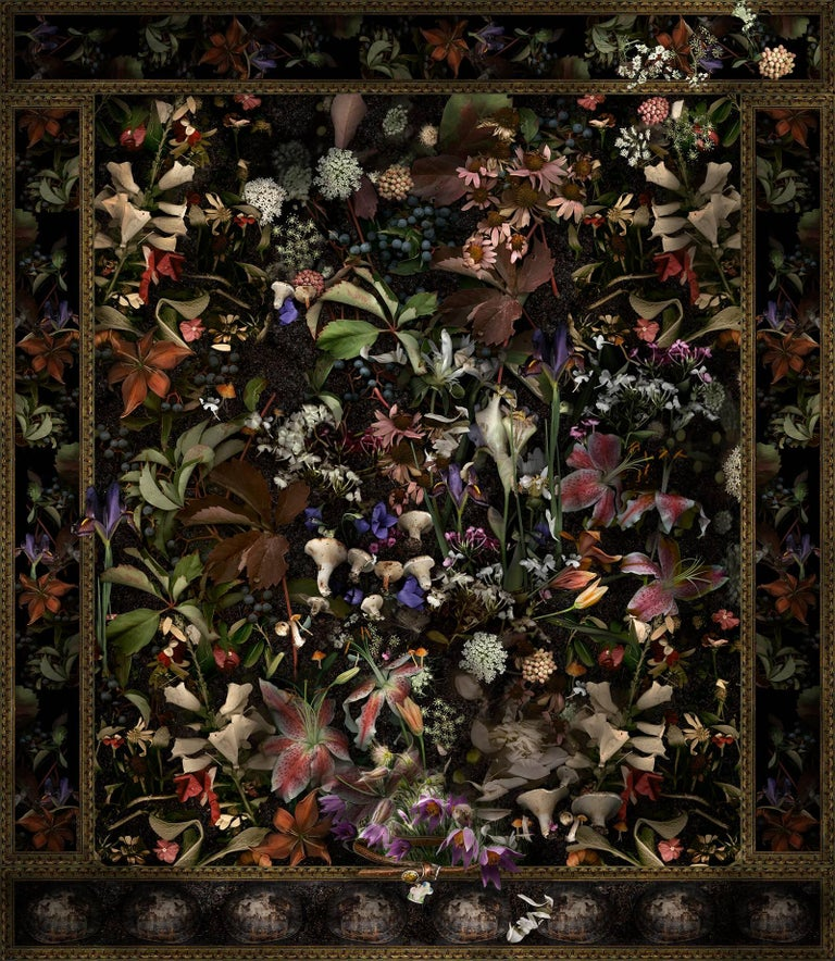 Lisa A. Frank Color Photograph - For Scout A, Very Good Dog: Modern Baroque Style Floral Still Life Digital Print