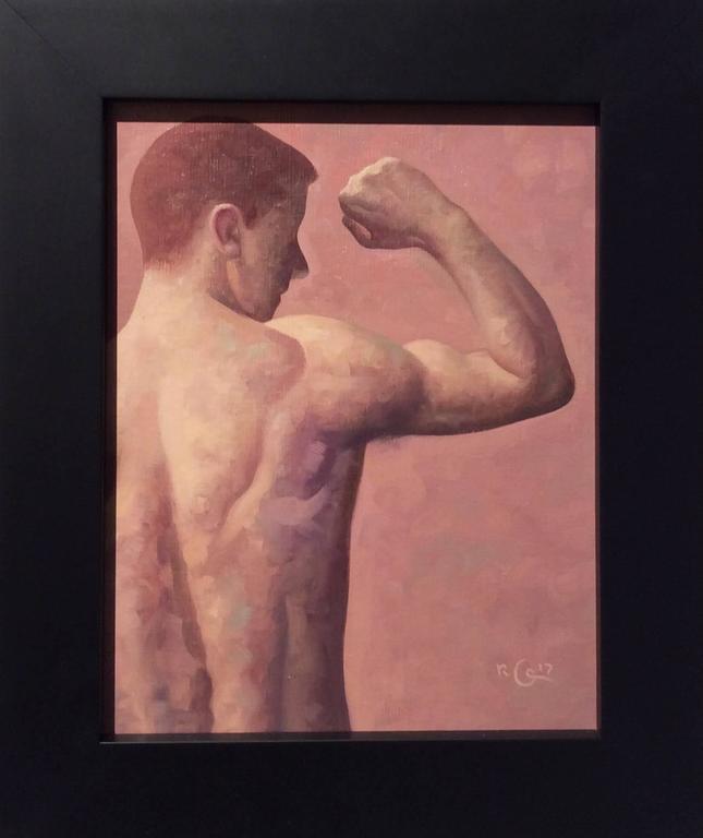 Robert Goldstrom - Anatomy Study 16 (Small Figurative Painting, Back ...