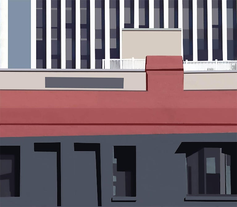 Stephanie Blumenthal Color Photograph - Building (Modern Abstracted Inkjet Print of Minimalist Architecture)