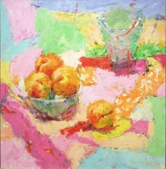 Apricots (Fruit Bowl Still Life Painting in Bright & Tropical Pastels)