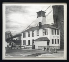 Brooklyn Ice Cream Factory (Realistic Industrial Cityscape Pencil Drawing)