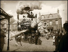 The Astonishing Steam Rhinomotive (Surreal Antique-Style Manipulated Photograph