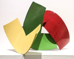 Gathering 3 (Colorful Abstract Mid Century Modern Minimalist Steel Sculpture)