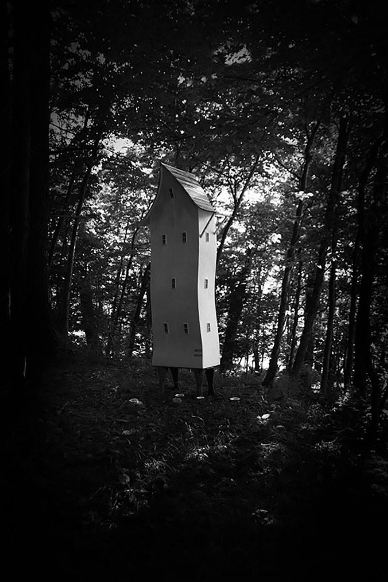 Forest King Hero (Mysterious Black and White Archival Pigment Print)