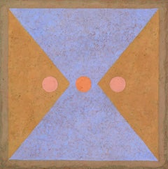 Insight 2 (Tempera & Plaster Pumpkin / Lavender Geometric Abstraction on Board)