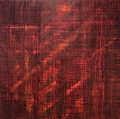 Minimalist Color Field Painting in Crimson (C16-16)