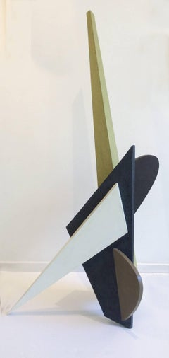 Take a Tank to Kill a Little Sparrow (Abstract Minimalist Standing Sculpture)