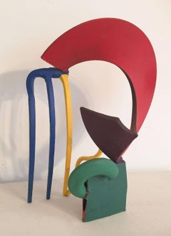 Sprite (Small and Colorful Abstract Mid Century Modern Steel Sculpture)