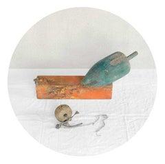 Buoys Blue-Orange (Nautical Circle-Shaped Archival Pigment Print)