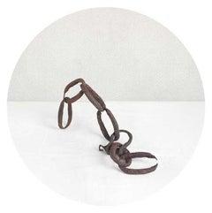 Chain Link (Nautical Minimalist Circle-Shaped Archival Pigment Print)