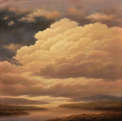 Cloud Icon XVIII (Traditional Hudson River Landscape Oil Painting on Canvas)