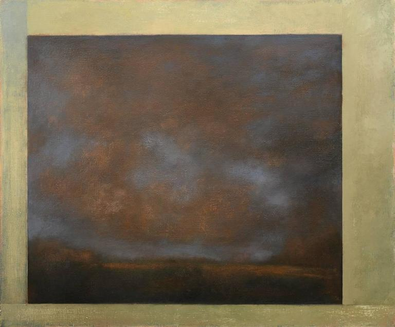 Opening No. 50 (Abstract Landscape Painting on Canvas in Romanticist Style)