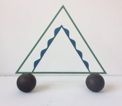 Big Top (Abstract Mid Century Modern Inspired Balancing Triangle Sculpture)