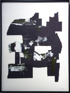Abstraction 1 (Black and White abstract paper collage)
