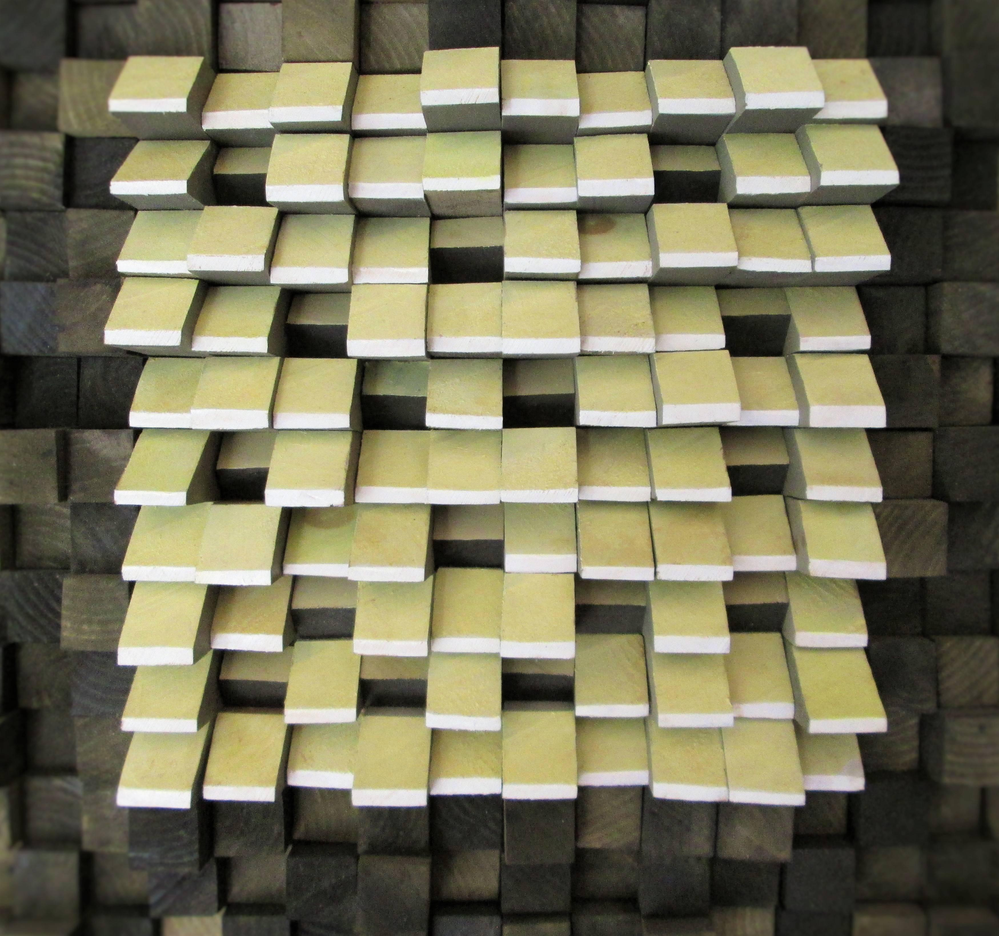 Stephen Walling - Oasis (Modern Abstract Wooden Wall Sculpture in ...