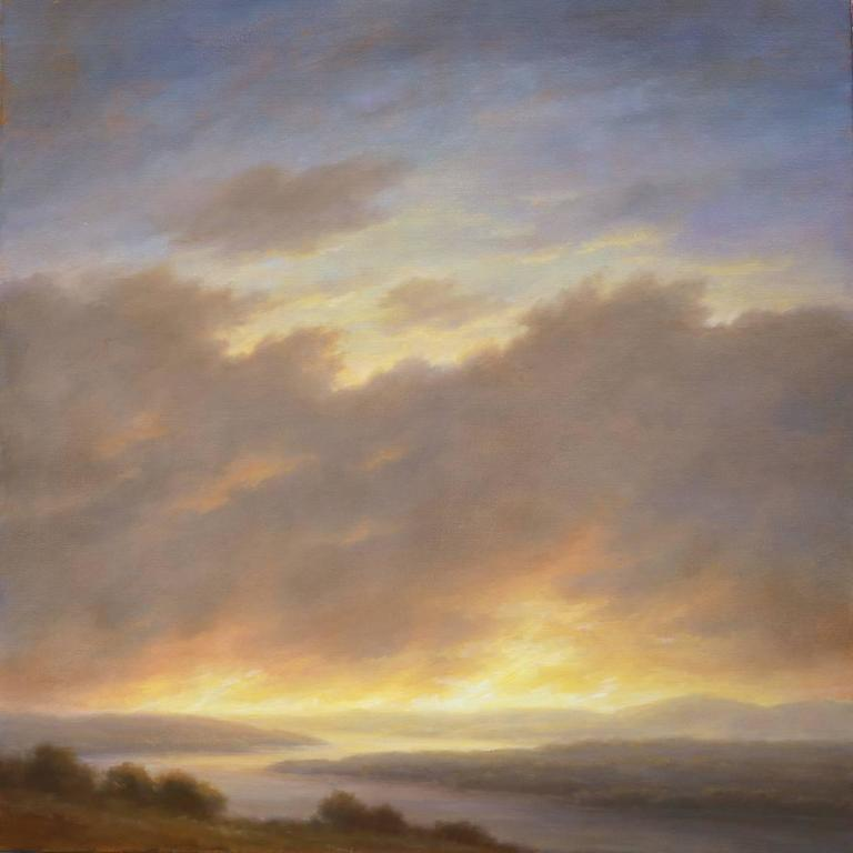 Revelation I (Hudson Valley Landscape Oil Painting in Hudson River School Style)