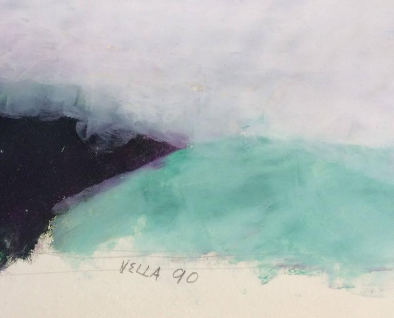 Untitled 065 (Contemporary Abstract Landscape in Bright Pastels on Paper) - Art by Vincent Vella
