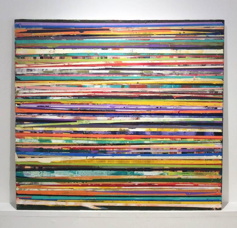 Modern Art Line Painting : Vincent pomilio horizon lines modern colorful