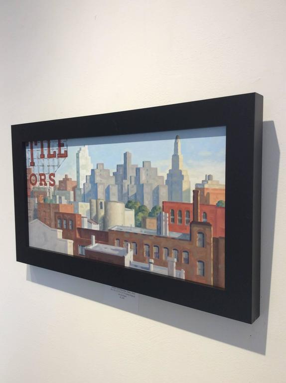 Robert Goldstrom - Kentile AM Panorama, Study (Bright Cityscape Oil ...