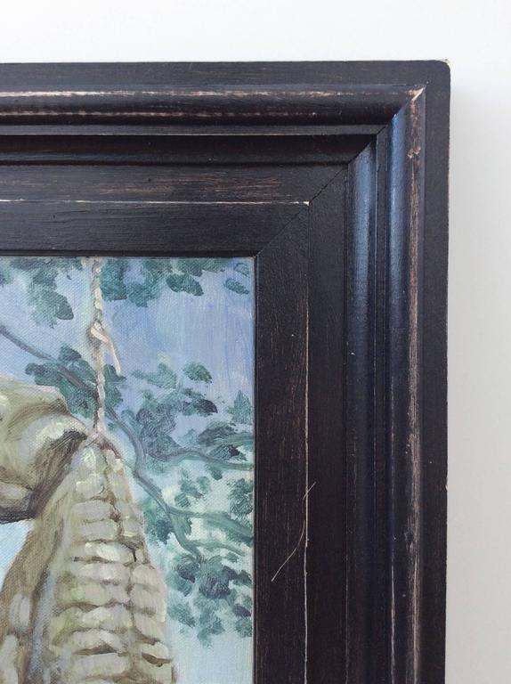 Mark Beard - Two Men With Crocodile Oil Painting Of -6263