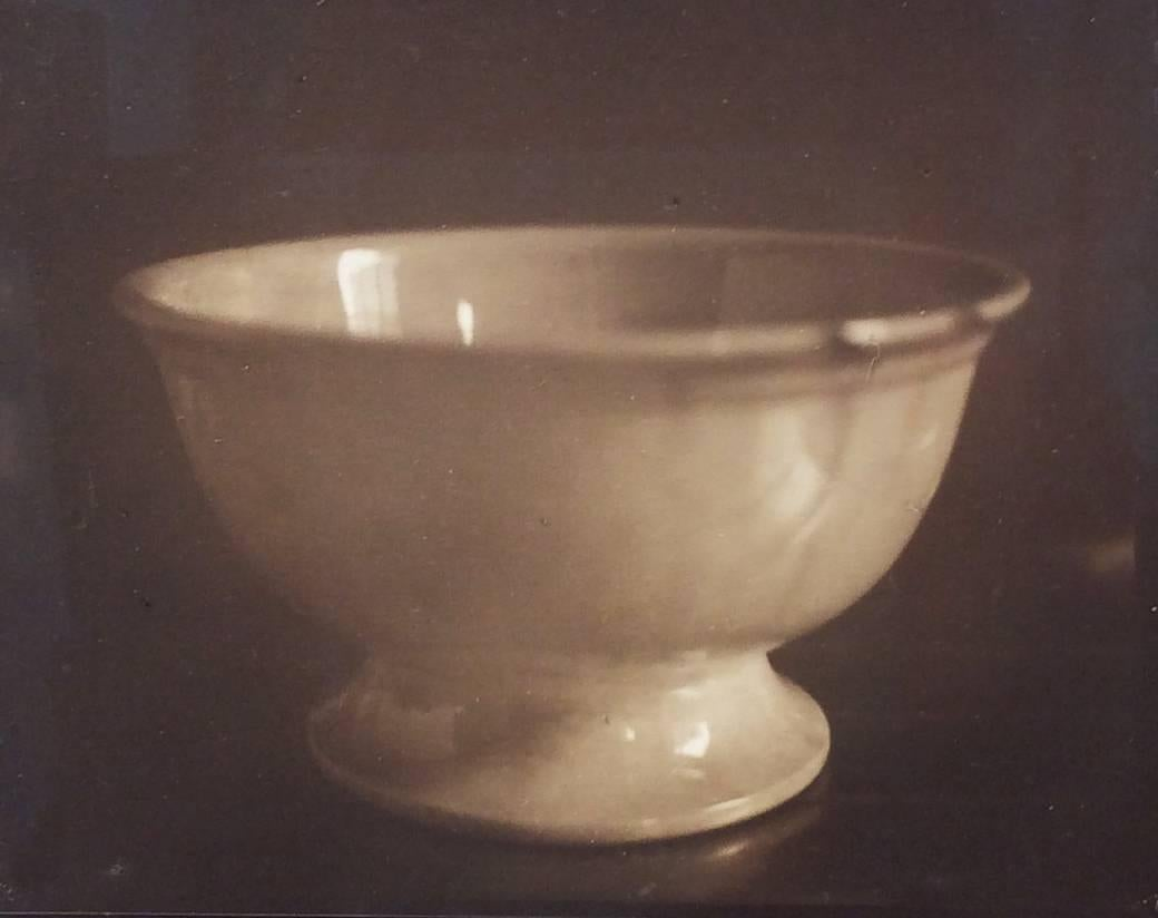 Stoneware Bowl (Small Sepia Toned Still Life Photograph of White Ceramic Bowl)