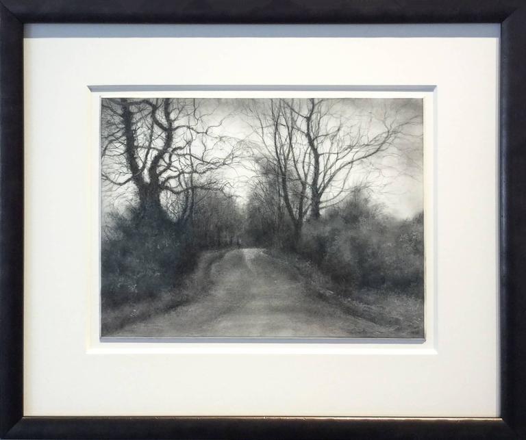 Sue Bryan Rural Road 7 Realistic Black And White