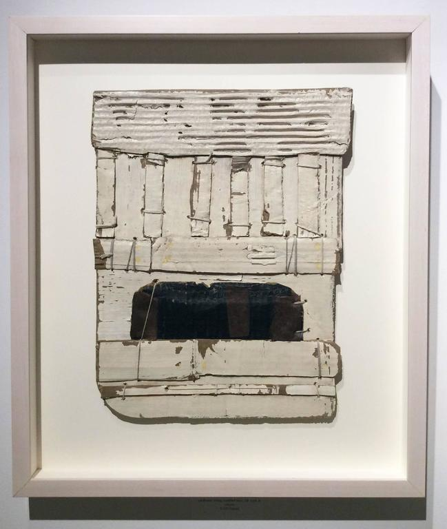 Untitled White (Abstract, Framed Mixed Media Construction in Neo-Dada Style) 2