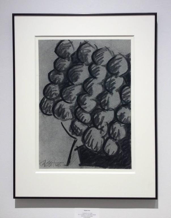 Ralph Stout - Untitled No. 26 (Modern Black and Grey Abstract Fruit ...