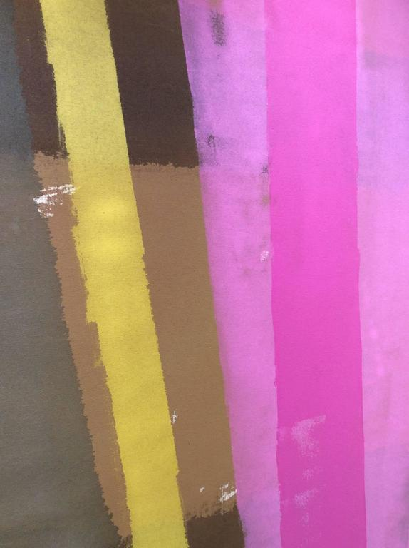 Edward Avedisian: 038 (Abstract Colorfield Painting; Pink, Yellow) c, 1969 For Sale 2