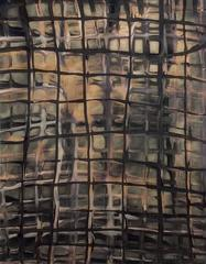Grid No. 4: Modern, Framed Abstract Chromoskedasic Photo in Black & Coffee Hues