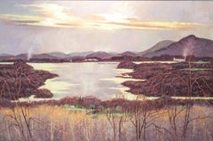 View from Olana (Iconic Hudson River School Landscape Painting on Canvas)