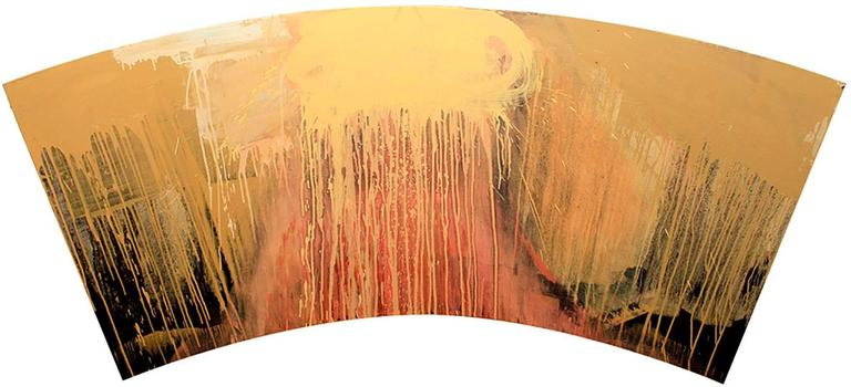 Dreamer (Contemporary, Abstract Painting in Earth Toned Brown Palette)