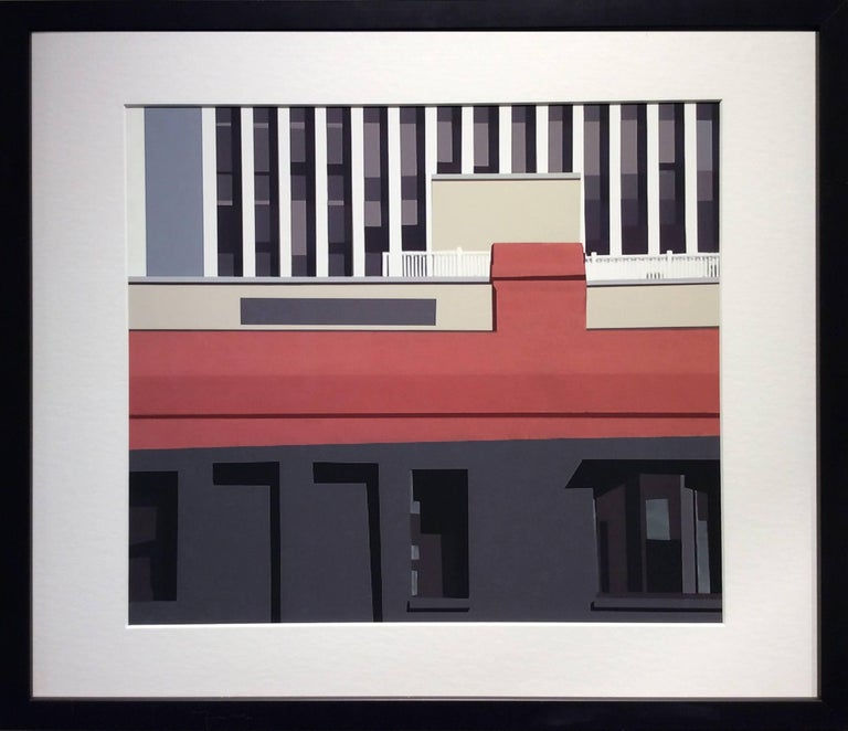 Building (Modern Abstracted Inkjet Print of Minimalist Architecture) - Photograph by Stephanie Blumenthal