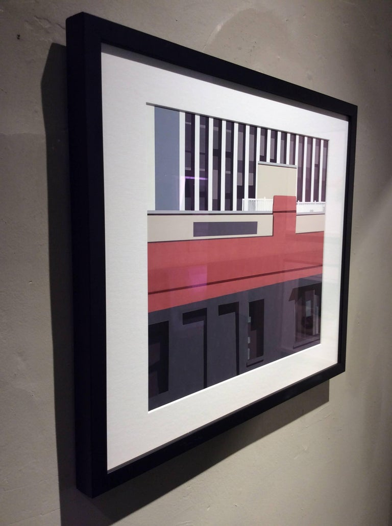 Building (Modern Abstracted Inkjet Print of Minimalist Architecture) - Gray Color Photograph by Stephanie Blumenthal