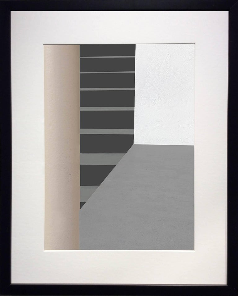 Columns and Stairs (Modern Abstracted Inkjet Print of Minimalist Interior) - Photograph by Stephanie Blumenthal