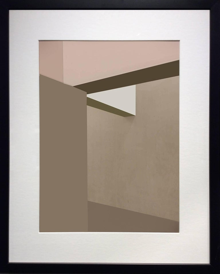 Wall and Ceiling (Contemporary Abstract Minimalist Inkjet Print in Black Frame) - Photograph by Stephanie Blumenthal