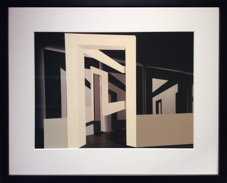 Many Arches (Contemporary Minimalist Architectural Inkjet Print in Black Frame) - Photograph by Stephanie Blumenthal