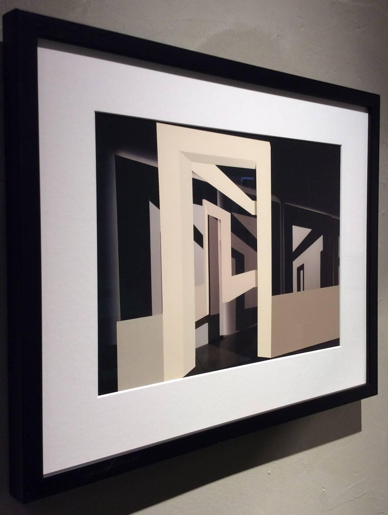 Many Arches (Contemporary Minimalist Architectural Inkjet Print in Black Frame) For Sale 1