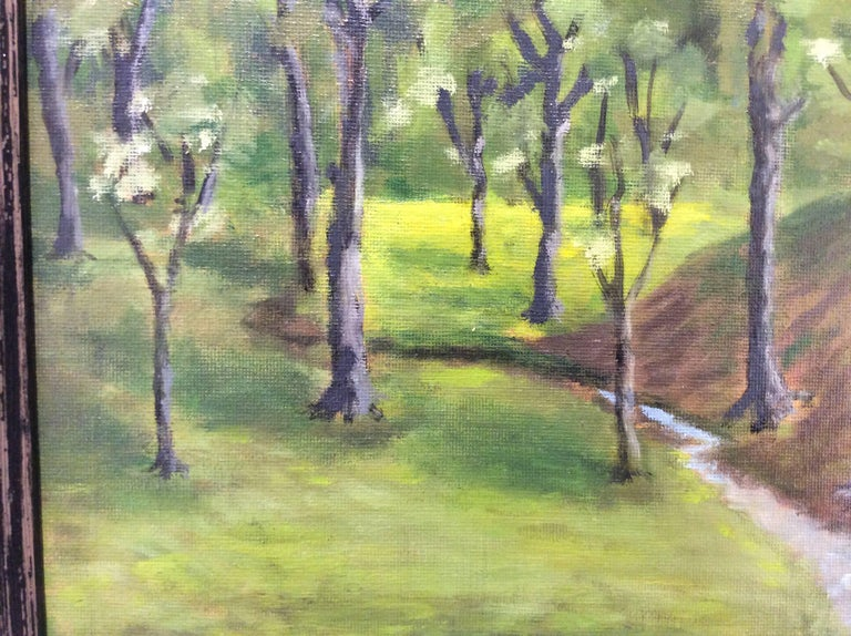 Hugh Brandt Woodland Pasture Small Oil Landscape