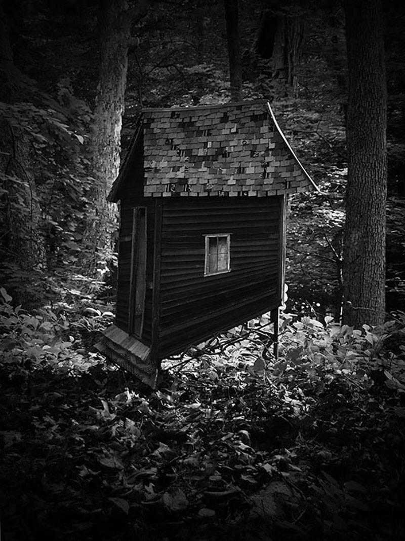 American Root House (Mysterious Black and White Archival Pigment Print)
