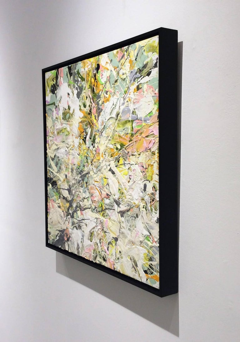 Adam Cohen - White Linen Garden Party: Abstract Expressionist Oil ...