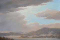 From Oak Hill: Luminist-Style Landscap Oil Painting of Hudson Valley Hills