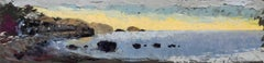 Sunrise (Impressionist Panoramic Landscape / Shoreline Oil Painting)