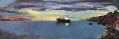 River of Glass (Impressionist Panoramic Landscape / Seascape Oil Painting)
