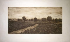 In a State of Flux  (Traditional Landscape on Canvas of Country Road in a Field)