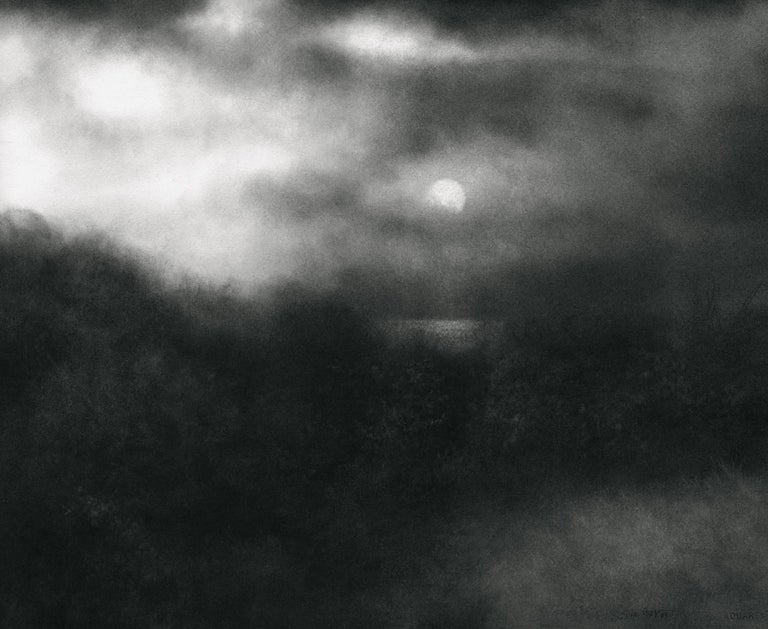 Sue Bryan The Long Black Land Black And White Charcoal